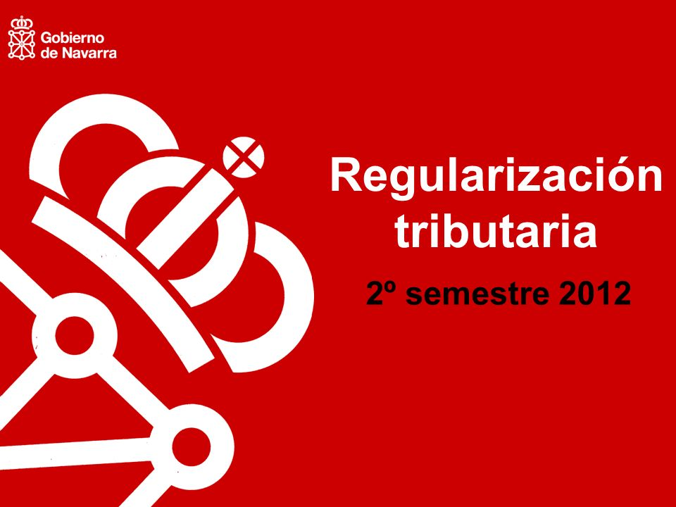 Regularización tributaria 2º semestre 2012