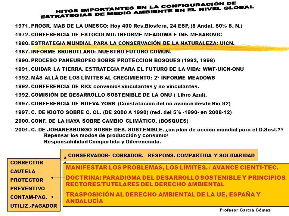 1971. PROGR. MAB DE LA UNESCO: Hoy 400 Res.Biosfera, 24 ESP, (8 Andal.