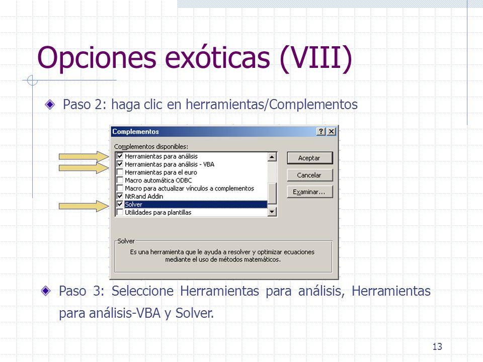 14 Desinstalación de complementos (I) Si desea desinstalar los complementos pinche en Herramientas/Complementos