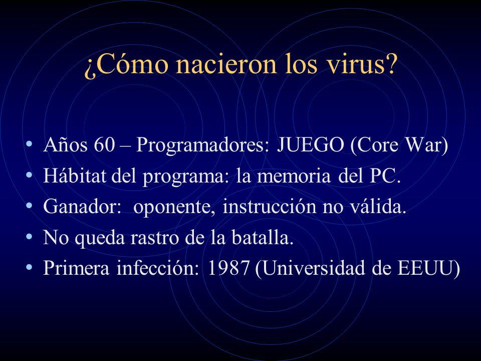 El nuevo escenario informático INTERNET Fábrica de virus