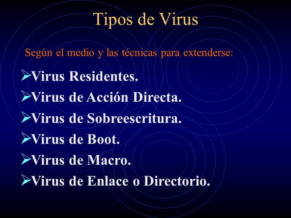 Tipos de Virus Según el medio y las técnicas para extenderse: Virus Residentes.