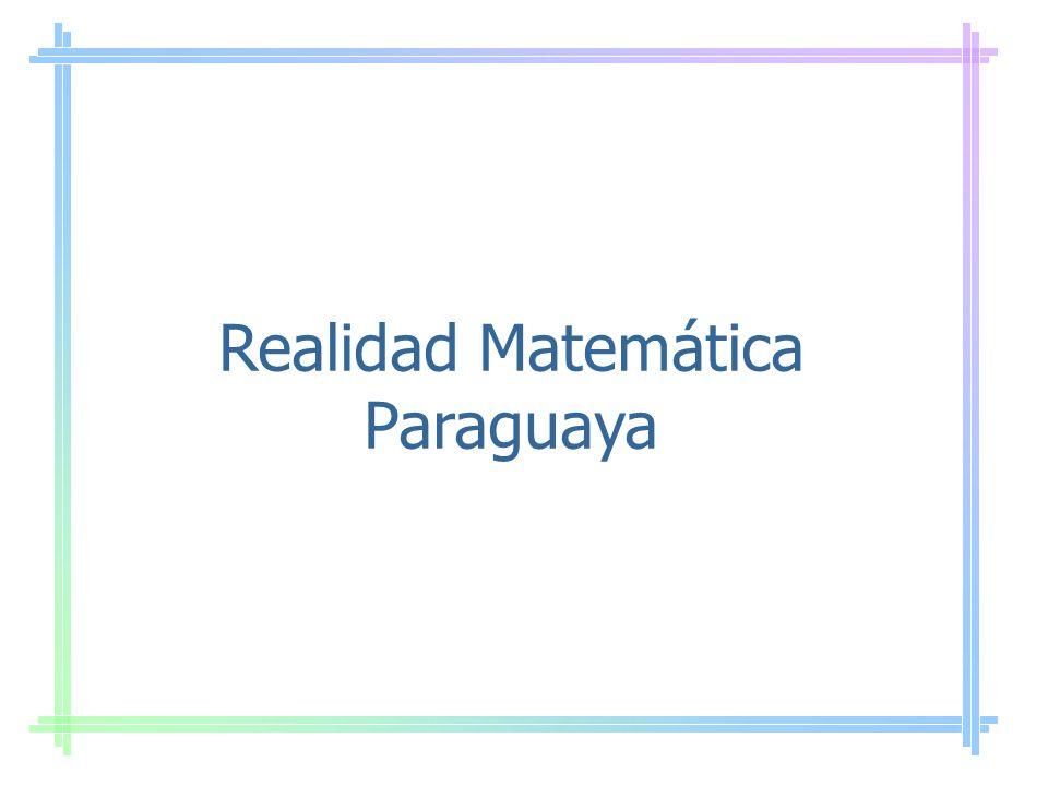 Realidad Matemática Paraguaya