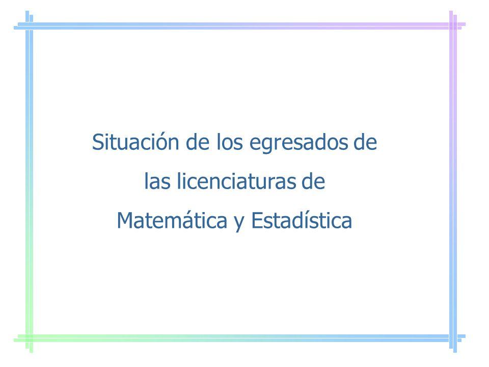 Distribución de Egresados 1990-1998 2001-2002 Matemática estadísticaMatemática pura