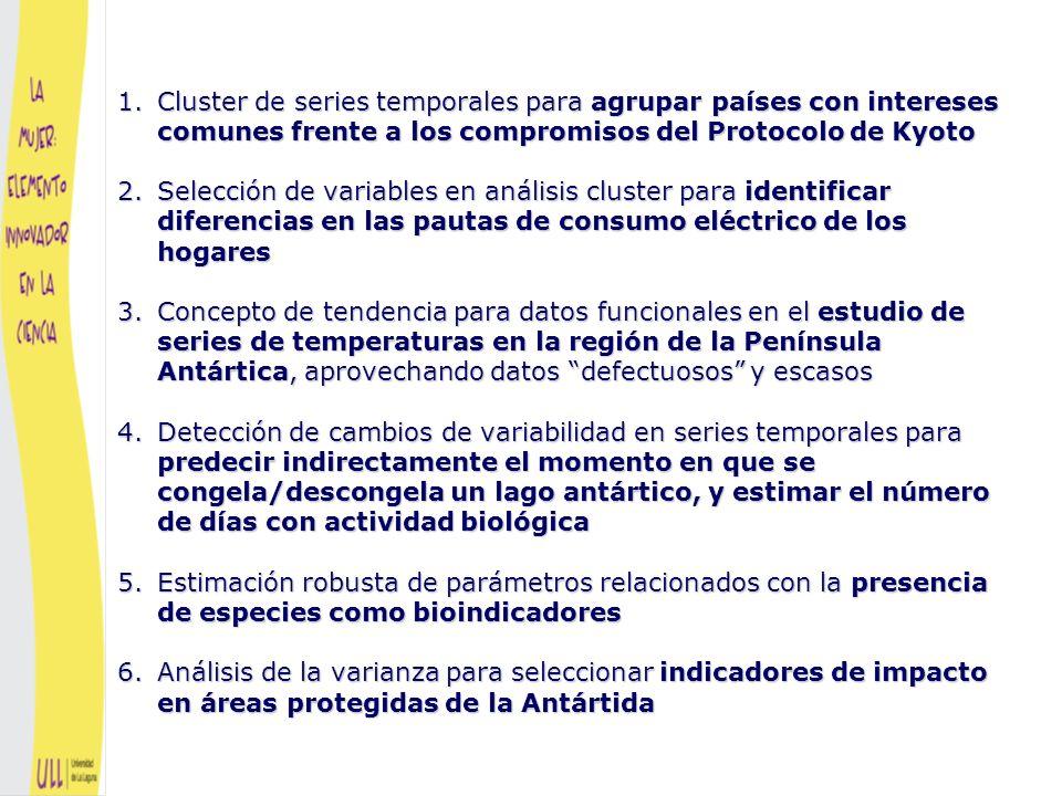 Series temporales Análisis multivariant e Problemas estadísticos Cluster de series temporales para agrupar países con intereses comunes frente a los compromisos del Protocolo de Kyoto