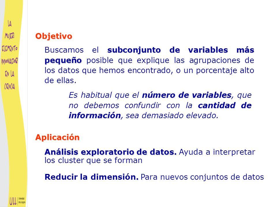 Trataremos de eliminar variables RUIDOSAS, RUIDOSAS, que son las no informativas y/o REDUNDANTES REDUNDANTES, que no aportan información que no este contenida en otras variables Selección de variables