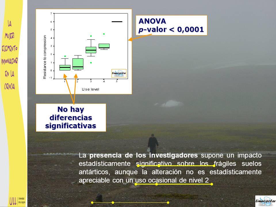 El impacto y la capacidad de recuperación a corto plazo (del suelo depende del nivel de uso al que haya sido sometido el sendero.