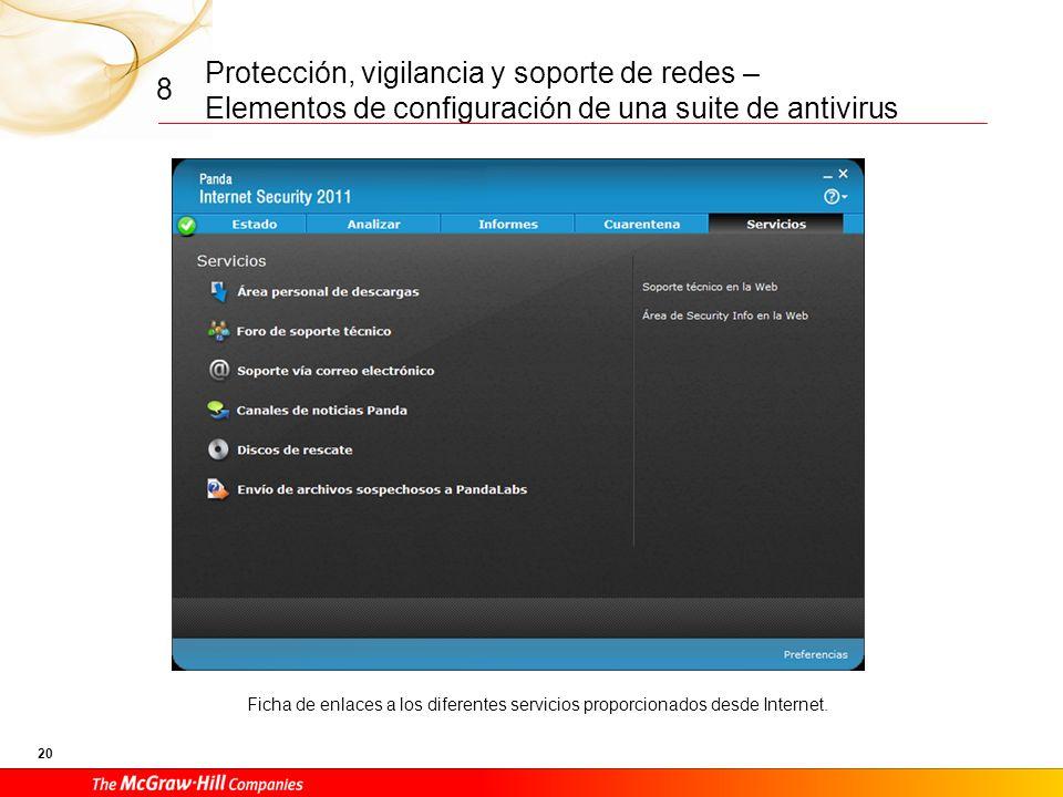 Protección, vigilancia y soporte de redes – Elementos de configuración de una suite de antivirus 19 8 Almacén de cuarentena y acciones sobre el conten