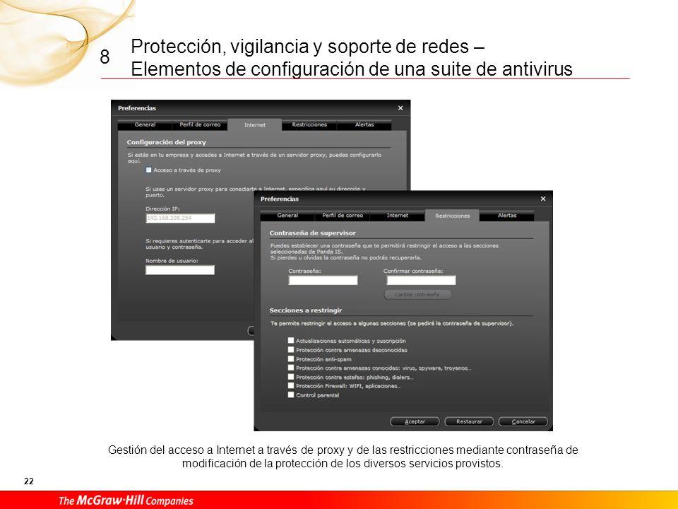 Protección, vigilancia y soporte de redes – Elementos de configuración de una suite de antivirus 21 8 Configuración de las preferencias de ejecución d