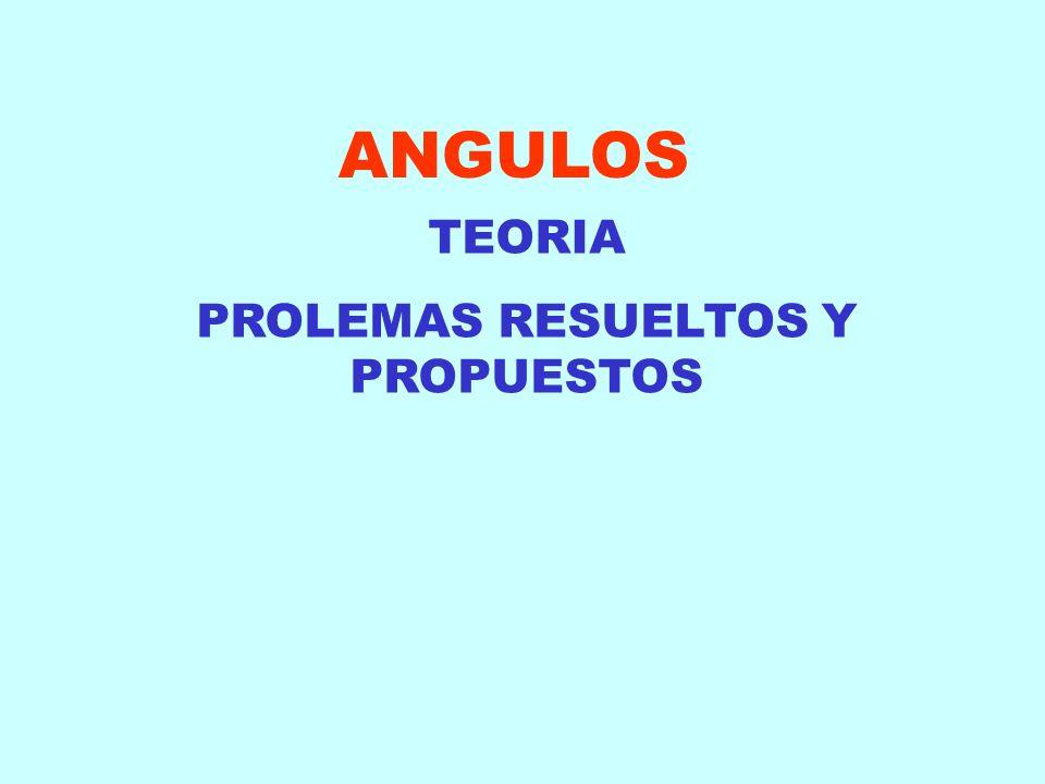 ANGULOS TEORIA PROLEMAS RESUELTOS Y PROPUESTOS