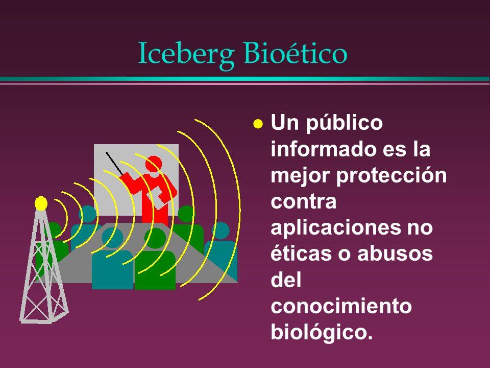 Iceberg Bioético l Un público informado es la mejor protección contra aplicaciones no éticas o abusos del conocimiento biológico.