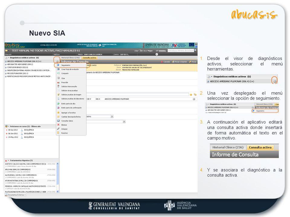 Nuevo SIA Los distintos accesos a Incapacidad Temporal dentro de la consulta activa: 1.Alerta IT, muestra un resumen del proceso IT activo.