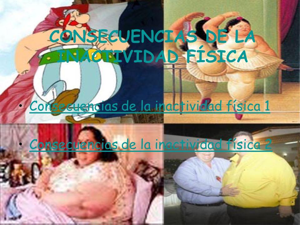 CONSECUENCIAS DE LA INACTIVIDAD FÍSICA Consecuencias de la inactividad física 1 Consecuencias de la inactividad física 2