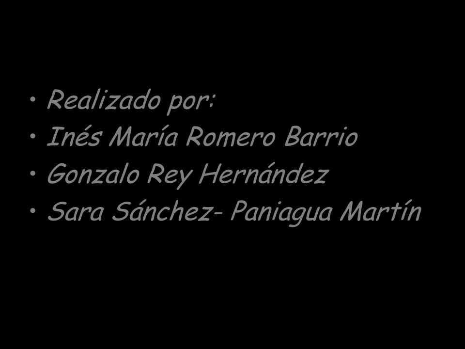 Realizado por: Inés María Romero Barrio Gonzalo Rey Hernández Sara Sánchez- Paniagua Martín