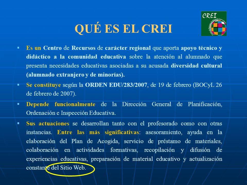 QUÉ ES EL CREI Es un Centro de Recursos de carácter regional que aporta apoyo técnico y didáctico a la comunidad educativa sobre la atención al alumna