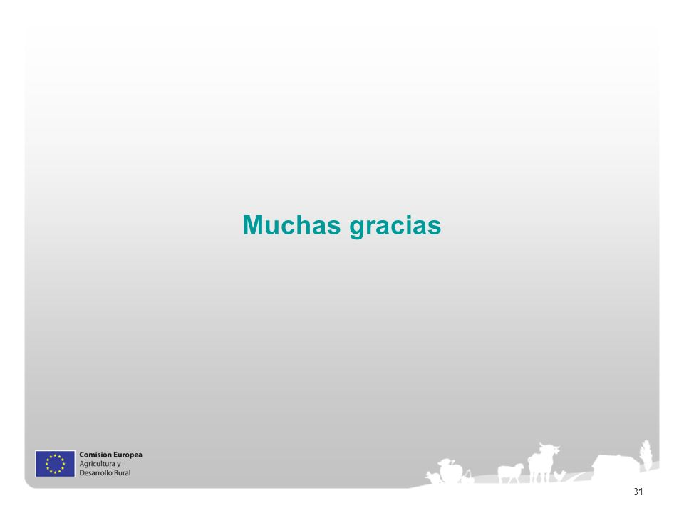 31 Muchas gracias