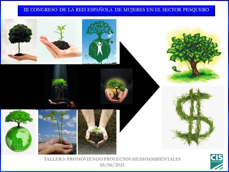 III CONGRESO DE LA RED ESPAÑOLA DE MUJERES EN EL SECTOR PESQUERO TALLER 3: PROMOVIENDO PROYECTOS MEDIOAMBIENTALES 05/06/2013