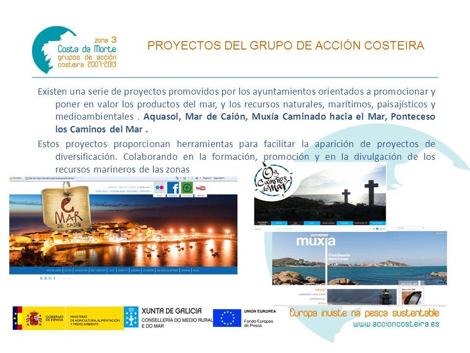 Existen una serie de proyectos promovidos por los ayuntamientos orientados a promocionar y poner en valor los productos del mar, y los recursos natura