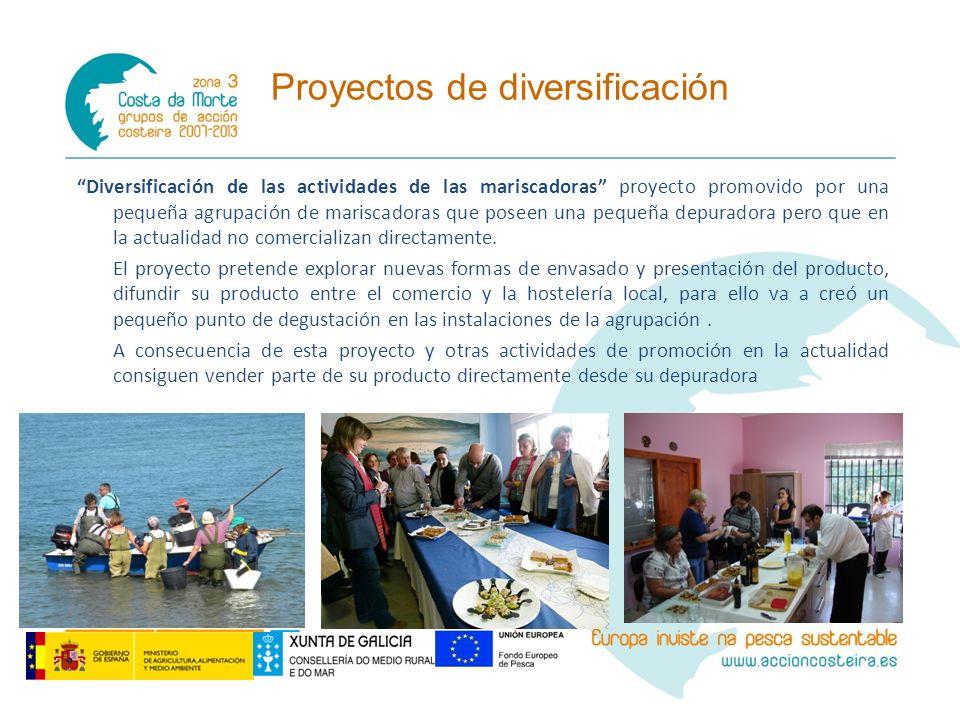 Diversificación de las actividades de las mariscadoras proyecto promovido por una pequeña agrupación de mariscadoras que poseen una pequeña depuradora