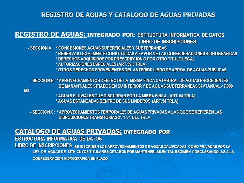 REGISTRO DE AGUAS Y CATALOGO DE AGUAS PRIVADAS ESTRUCTURA INFORMATICA DE DATOS REGISTRO DE AGUAS: INTEGRADO POR: ESTRUCTURA INFORMATICA DE DATOS LIBRO