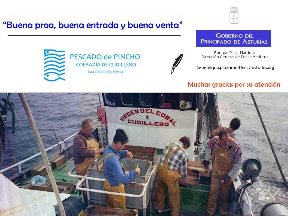 Enrique Plaza Martínez Dirección General de Pesca Marítima Buena proa, buena entrada y buena venta Muchas gracias por su atención joseenrique.plazamar