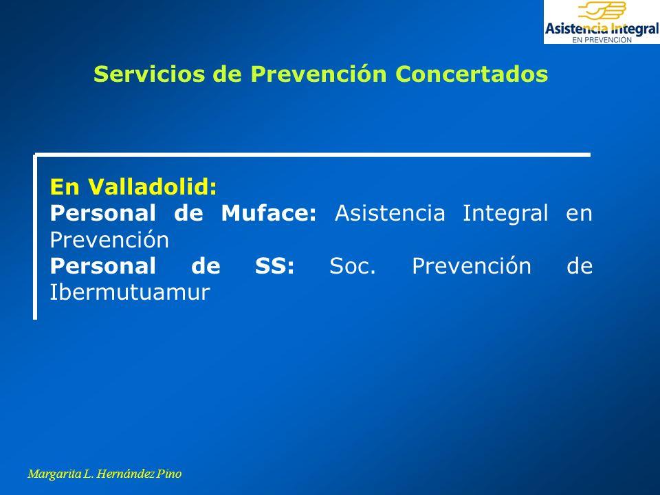 Margarita L. Hernández Pino En Valladolid: Personal de Muface: Asistencia Integral en Prevención Personal de SS: Soc. Prevención de Ibermutuamur Servi