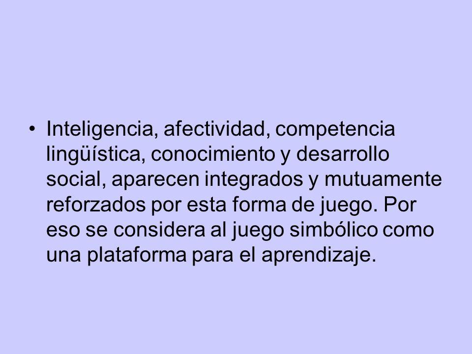 Inteligencia, afectividad, competencia lingüística, conocimiento y desarrollo social, aparecen integrados y mutuamente reforzados por esta forma de ju