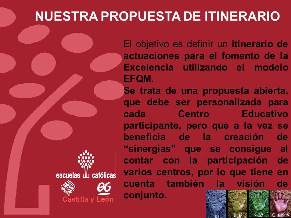 Castilla y León Apoyo en la formación durante el primer año de implantación del modelo EFQM. Apoyo en el seguimiento, de los planes de mejora que real