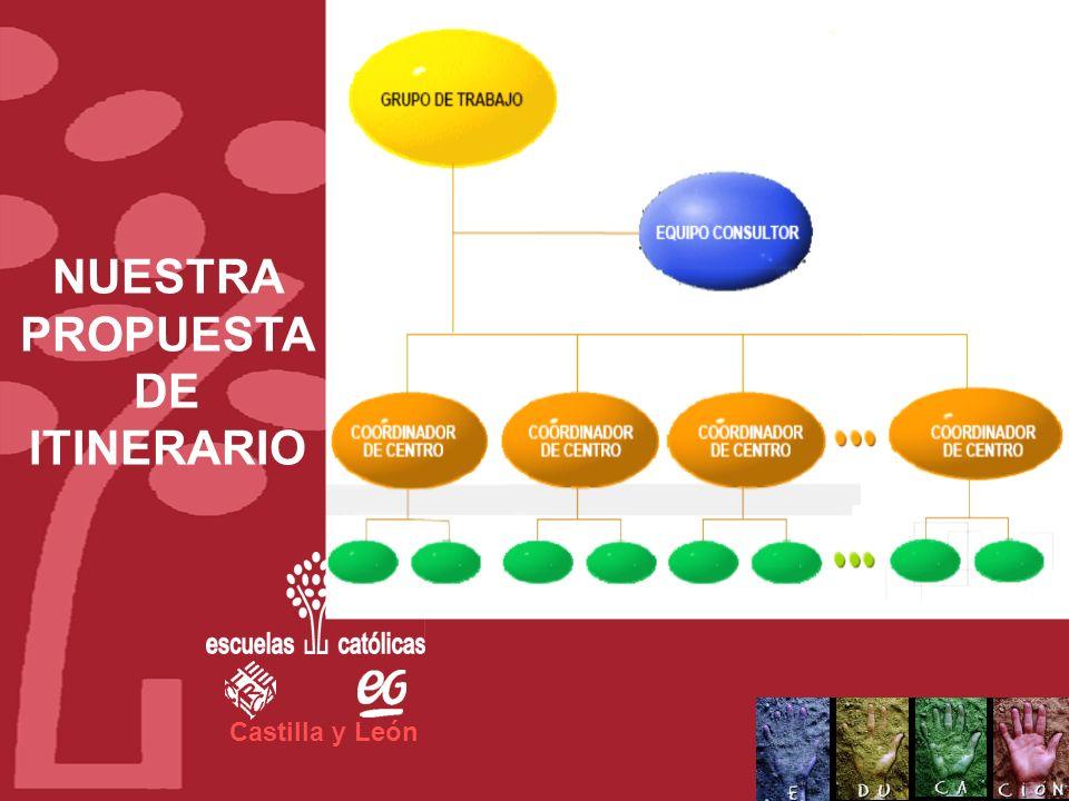 Castilla y León El equipo básico necesario se constituiría en forma de: Equipo consultor Un Equipo de proyecto, formado por personal del Centro educat