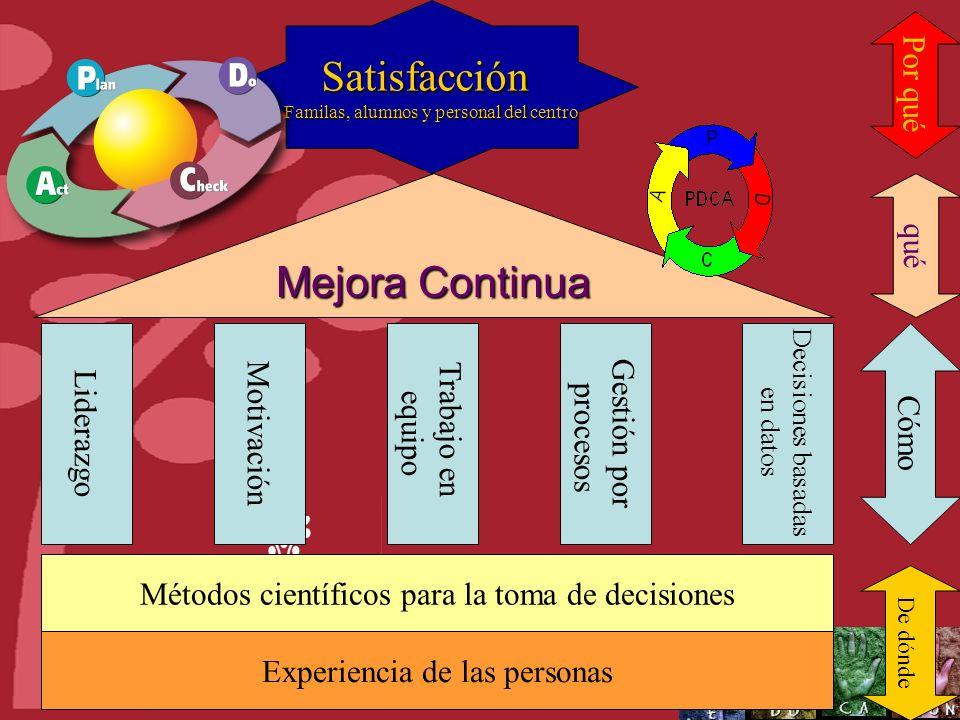 Castilla y León Lo que la escuela debe hacer Lo que la escuela hace Cambio BÚSQUEDA DE LA EXCELENCIA