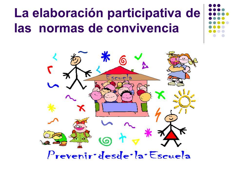 La elaboración participativa de las normas de convivencia