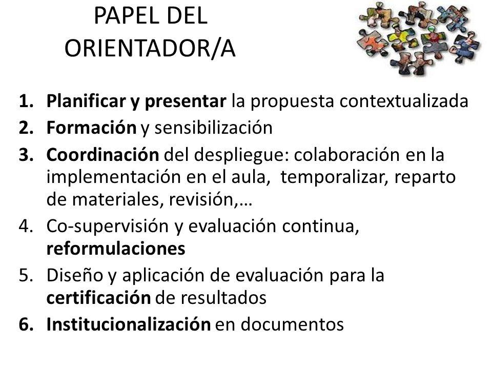 EVALUACIÓN FORMATIVA Aumentaremos la supervisión y el apoyo para la realización de refuerzos/apoyos por parte del EOA/DO.