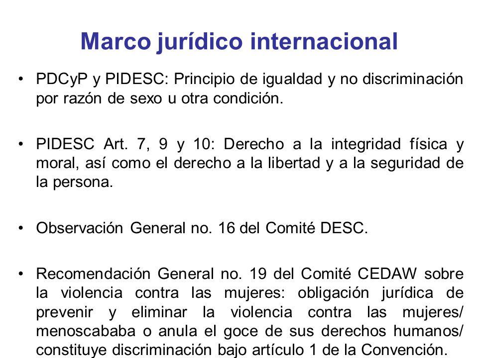Marco jurídico internacional Convención sobre los Derechos del Niño: –Artículo 23: derechos de los niños con discapacidad (vida plena en condiciones de dignidad, autosuficiencia y participación en la comunidad).