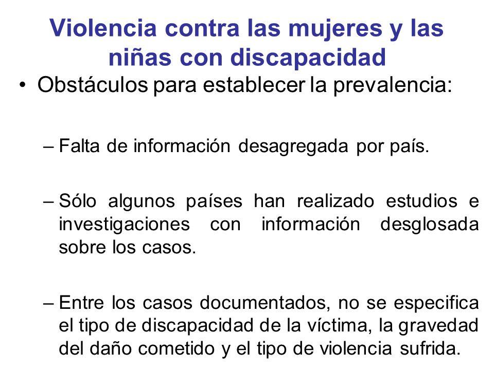 Factores que facilitan la violencia Percepciones estereotipadas y erróneas: –Receptoras de servicios caritativos.