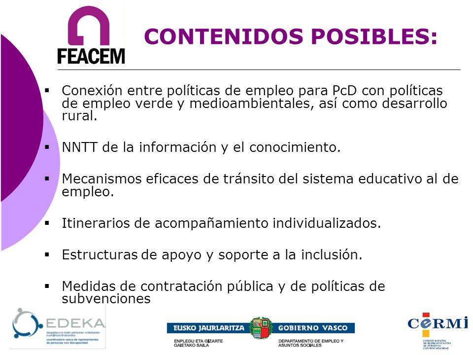 Conexión entre políticas de empleo para PcD con políticas de empleo verde y medioambientales, así como desarrollo rural. NNTT de la información y el c