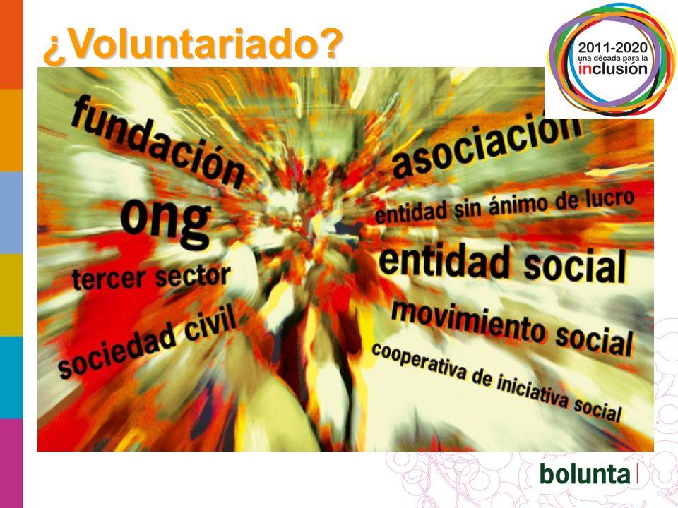 Persona voluntaria es aquella que se compromete, por iniciativa propia, de manera desinteresada en una acción organizada al servicio de la comunidad.