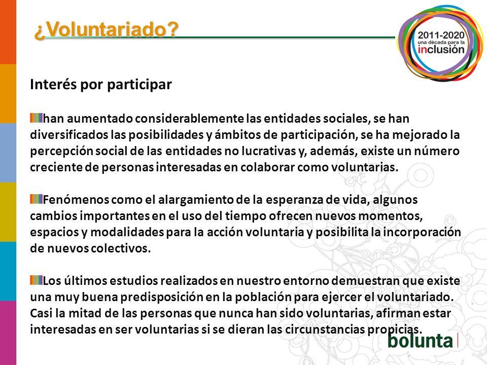 ¿Voluntariado.Nuevos modelos de participación.