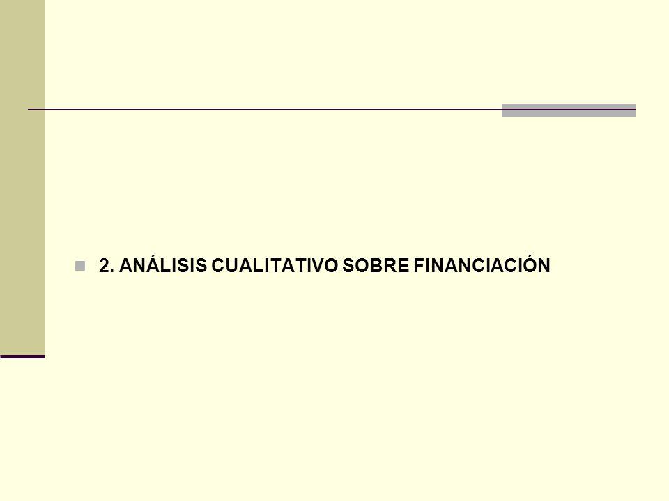 2. ANÁLISIS CUALITATIVO SOBRE FINANCIACIÓN