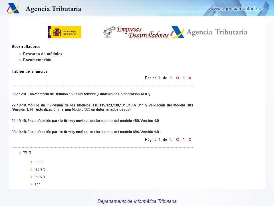 Departamento de Informática Tributaria El Sitio Web de las EEDD (CAMBIAR GRÄFICO)