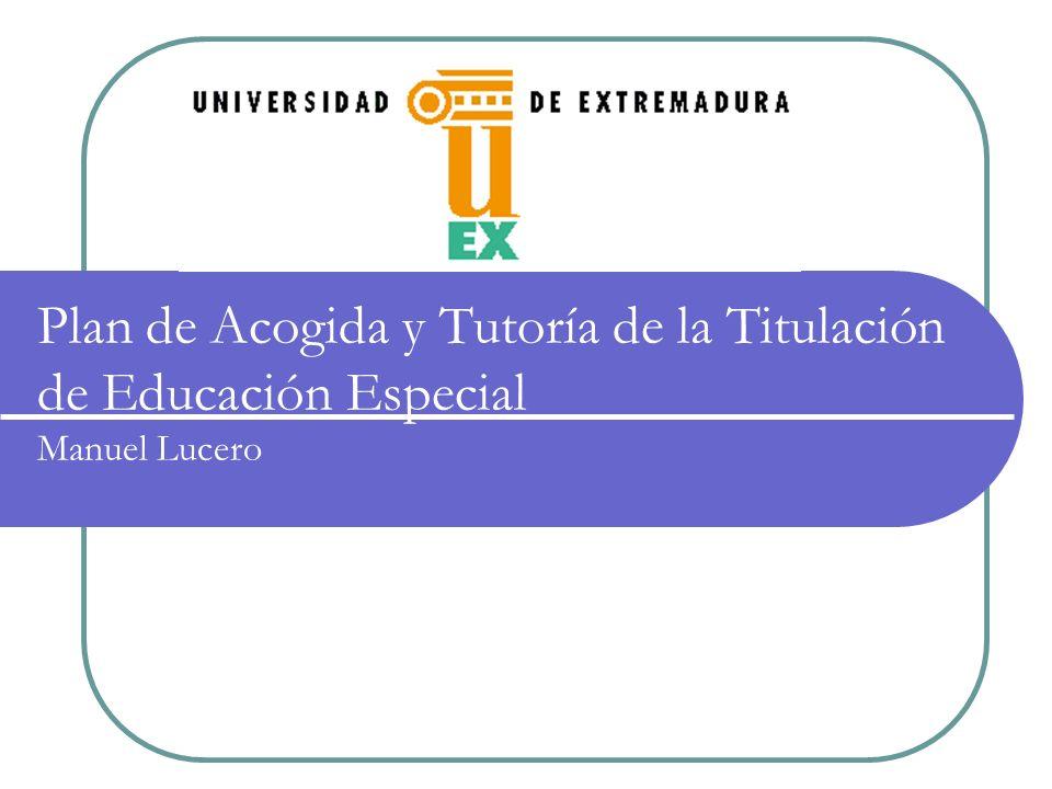 Índice de contenidos 1.- Justificación La acción tutorial en la ANECA, en la UEx y en la titulación de Educación Especial 2.- Método Participantes y procedimiento Líneas de actuación Actividades desarrolladas 3.- Resultados Vídeo 1.