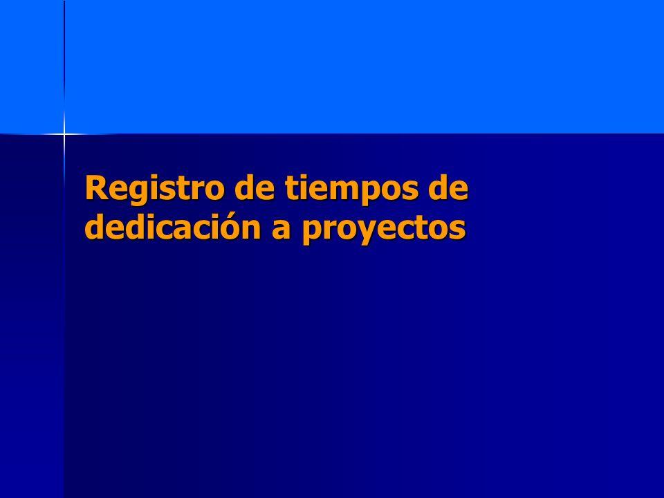 Registro de tiempos de dedicación a proyectos