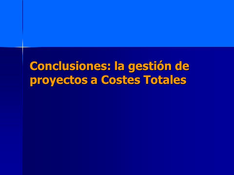 Conclusiones: la gestión de proyectos a Costes Totales