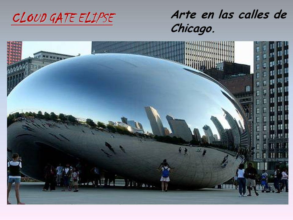 Arte en las calles de Chicago. CLOUD GATE ELIPSE