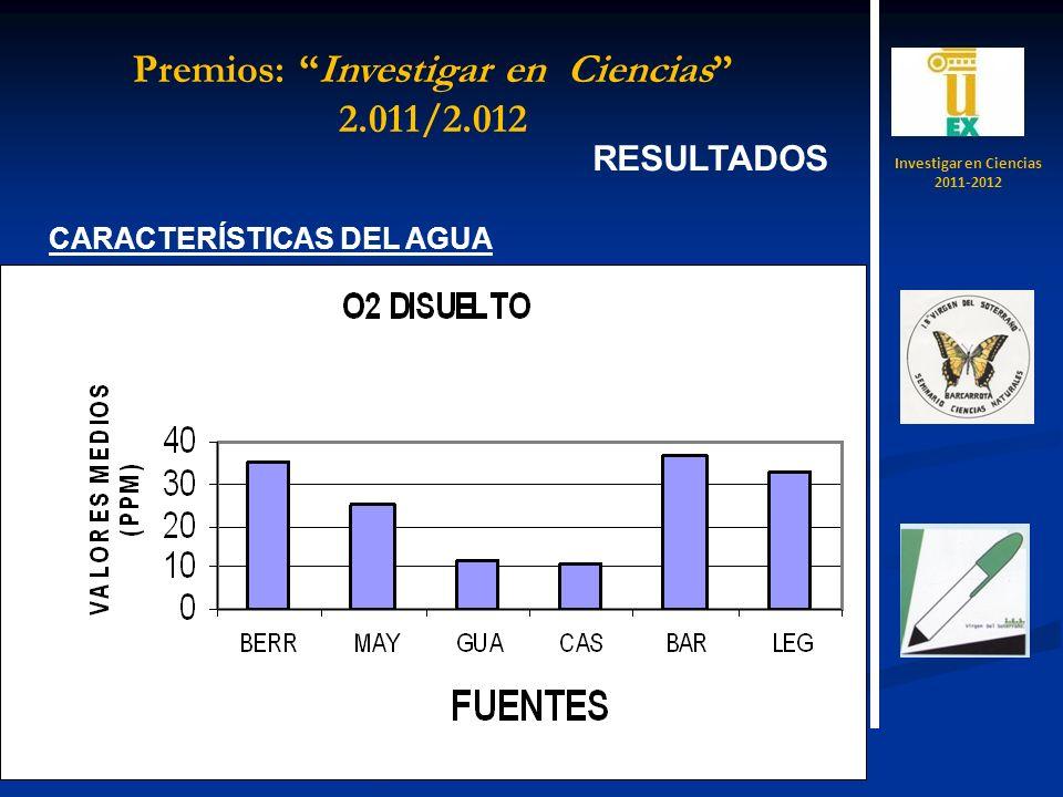 Investigar en Ciencias 2011-2012 Premios: Investigar en Ciencias 2.011/2.012