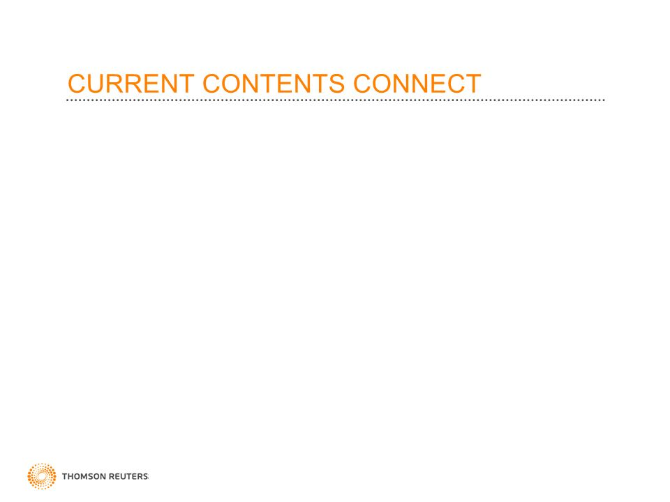 CURRENT CONTENTS CONNECT