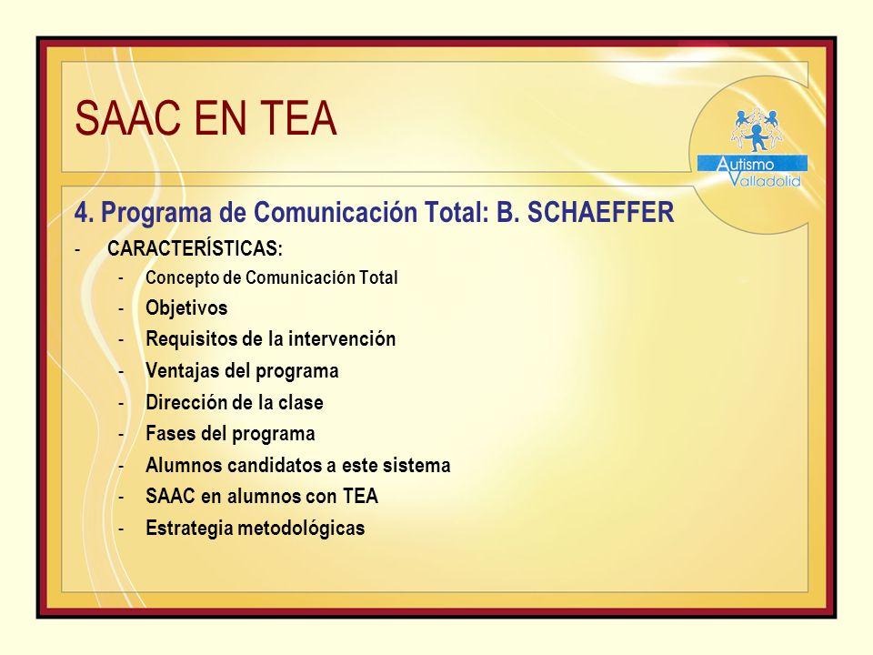 SAAC EN TEA 4.Programa de Comunicación Total: B.