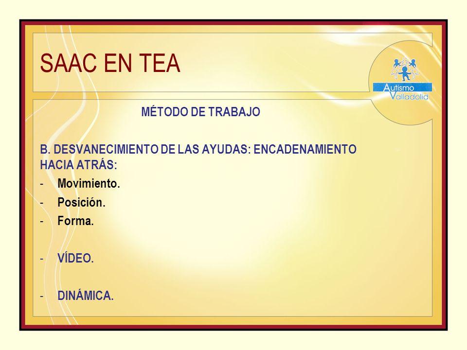 SAAC EN TEA MÉTODO DE TRABAJO B.