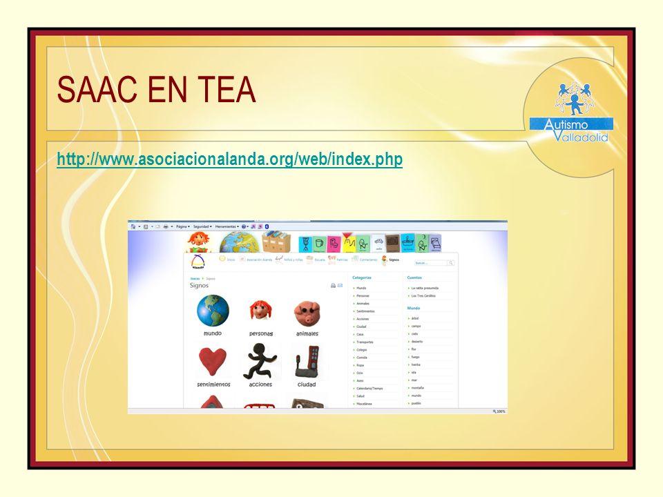 SAAC EN TEA http://www.asociacionalanda.org/web/index.php