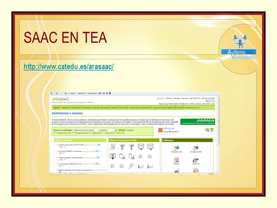 SAAC EN TEA http://www.catedu.es/arasaac/