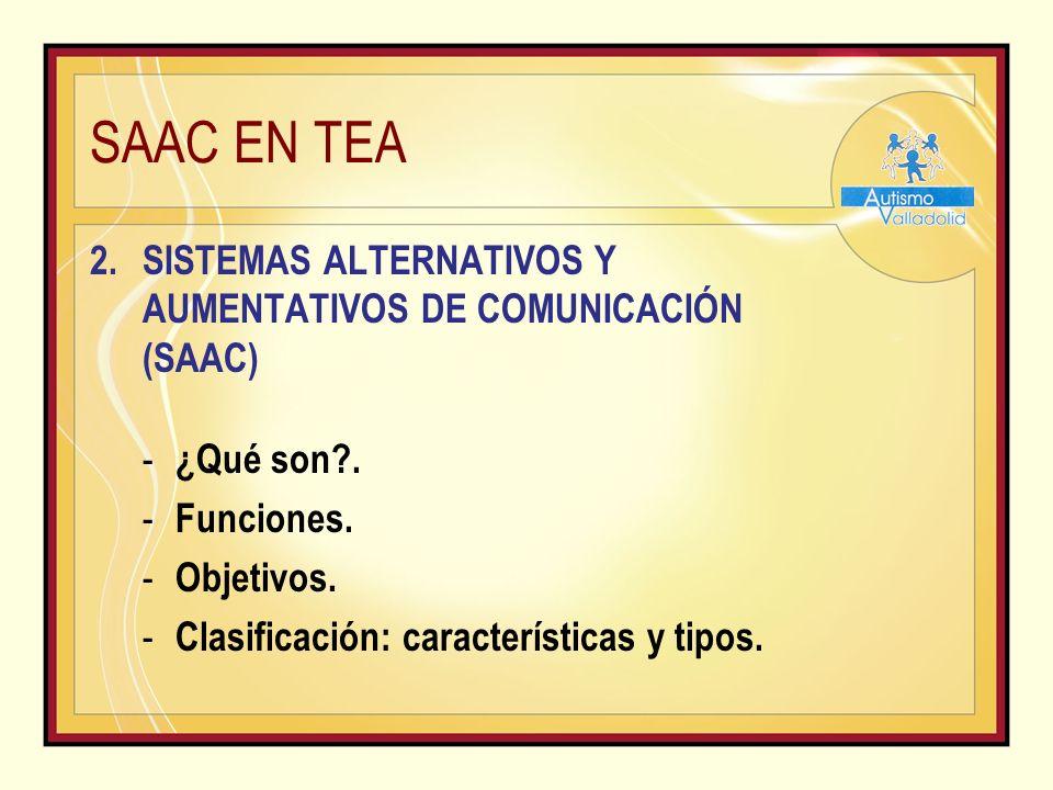 SAAC EN TEA 2.SISTEMAS ALTERNATIVOS Y AUMENTATIVOS DE COMUNICACIÓN (SAAC) - ¿Qué son?.