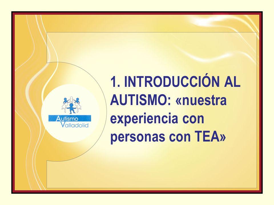 1. INTRODUCCIÓN AL AUTISMO: «nuestra experiencia con personas con TEA»